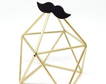 """Ring leather mustache """"hipster"""" is black hand"""