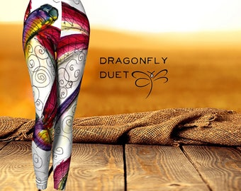 Dragonfly Duet  Women's  'ArtWear' Leggings