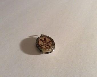 Copper & Silver Tone Locket