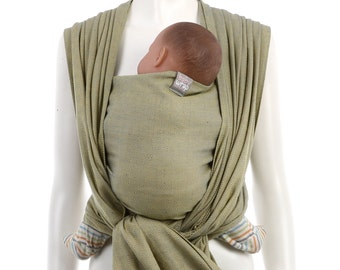 SALE 15% OFF Woven Baby Wrap - Gold-Blue Baby Wrap - Woven Wrap Baby Carrier