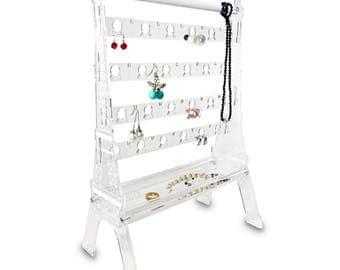 Ikee Design Acrylic Jewelry Display Earring Stand Organizer Holder Eiffel Tower (SKU#JWY6010)
