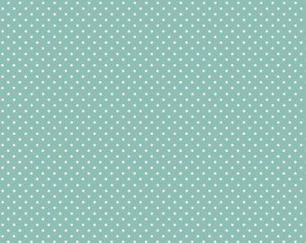 Teal Spot - Baby Jungle cotton fabric