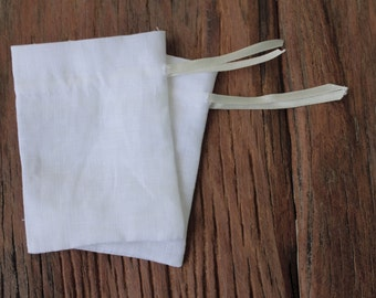 30 white linen drawstring bags with ribbon gift bags jewellery packaging pouches drawstrings 3 x 4 inch linen favor bags gift pouches