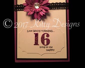 Happy Sweet sixteen Birthday card