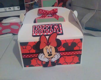 Birthday, Minnie Mouse gift box