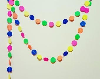 Confetti Neon Fluro Garland Bunting