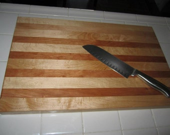 Maple and Cherry Cutting board, perfect for that great chef or the everyday home cook!