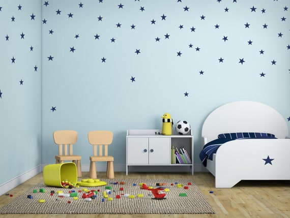 Connellycommodities boys room stars blue or gold for Room design 3x3