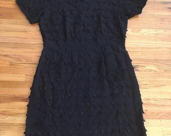 Spring Sale - Vintage 1950's/1960's fabulous fringe dress