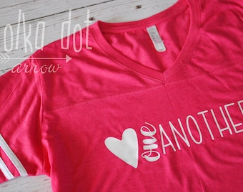 Love One Another Varsity Tee