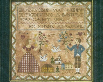 Be Kind Always by Heartstring Samplery Counted Cross Stitch Pattern/Chart