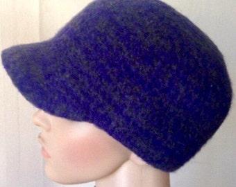 Purple Cloche Hat Felt Beanie Felt Cap Felted Wool Hat Handmade Felt Hat Winter Cloche Hat Hip Hat Purple Felt Hat Art Felt Hat Rasta Cap