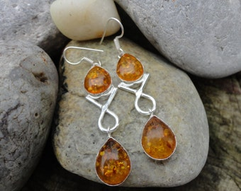 of the Baltic amber earrings