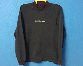 Rare!!vintage 90s cp company sweatshirt/pullover embroidery logo size M