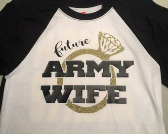 Future Army Wife Reglan Baseball Tee