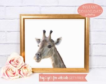 Giraffe Print, Printable Wall Art, Giraffe, Printables, Giraffe Art, Minimalist Print, Wall Art Prints, Minimalist Art, Prints, Minimalist