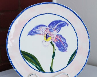 Lila & Norman Bacon Sweetheart Gallery Pink Decorative Hanging Plate Woodstock NY 1981