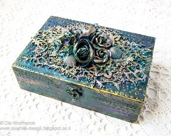 Sea themed altered wooden box