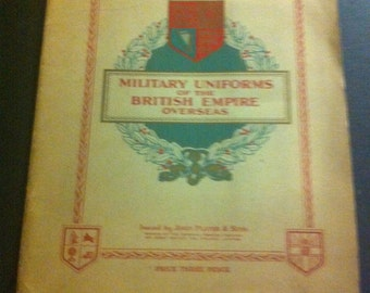 VINTAGE FULL SET Of Military Uniforms of the British Empire Overseas