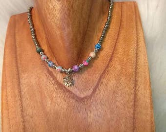 Multicolor Flower Choker