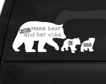Mama bear and her cubs on board