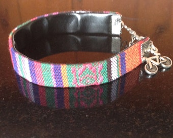 Peruvian style fabric bracelet, Friendship Bracelet