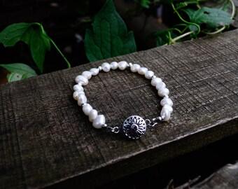 Freshwater Pearl Bracelet, Simple Pearl Bracelet