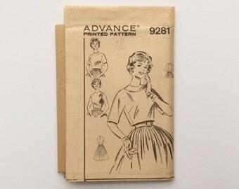 UNCUT FF 1960s B38 Dress & Jacket Sewing Pattern : Advance 9281