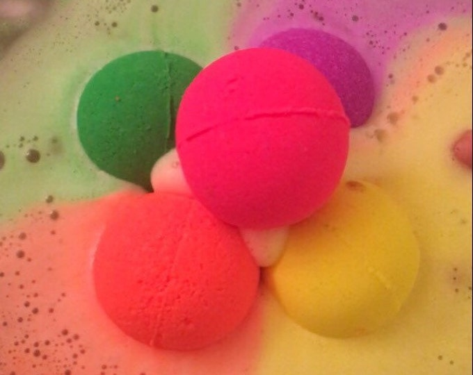 5 neon colors bath bombs , neon bath bombs , kids bath bombs