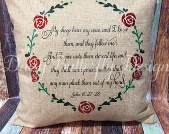 Throw Pillow Cover - Personalized