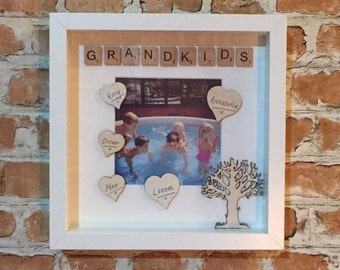 Grandkids Scrabble Photo Frame
