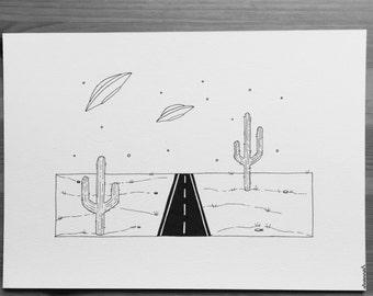 Original desert drawing