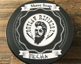 """Outlaw Refinery """"Mocha"""" Scented Shave Soap"""