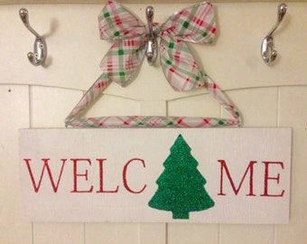 Holiday Welcome Sign