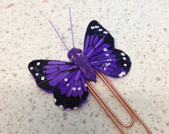 Gorgeous Purple Butterfly Planner Clip/ Book mark.