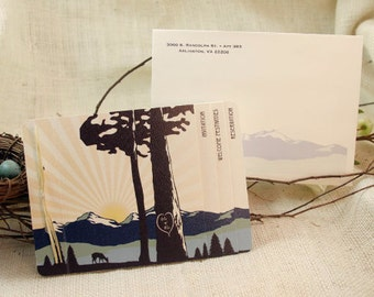 Rocky Mountains // Colorado Wedding Invitation // 3pg Booklet Livret Invite with Perforated RSVP Postcard and Envelopes