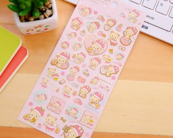 San X Rilakkuma cute kawaii stickers