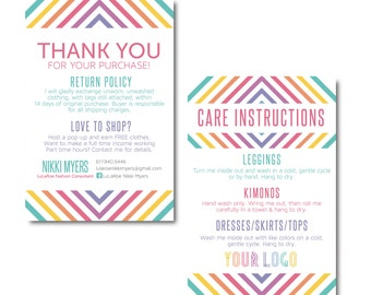Thank You Care Card Postcard 4x6- Made to Order- Approved Fonts and Colors