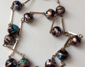 Stunning Millefiori Venetian Bead Necklace.