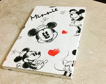 Minnie Mouse Clothbound/Fabric covered notebook