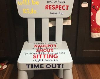 Cute, unique, time out chair,