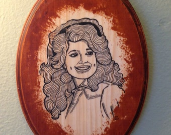 Line Art Plaque (Dolly Parton)