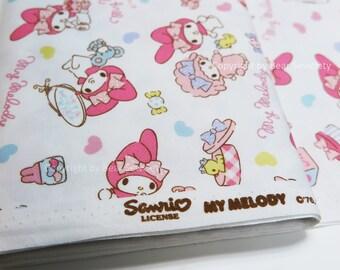 My Melody Fabric, Sanrio fabric, Children's fabric, Japanese Fabric - 50cm