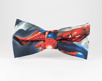 Child Bow Tie, Spiderman Bow Tie, Unique Bow Tie, Gift for toddler, Children Bow Tie, Hero Bow Tie, Toddler BowTie Gift for kids Hero bowtie