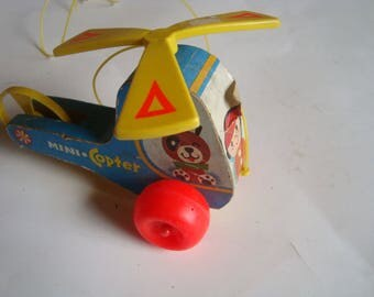 Fisher Price Mini-Copter Helicopter Pull Toy