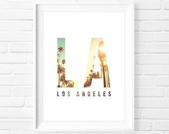 Los Angeles LA - Instant Download Digital Print Interior Design Home Decor Living Room Bedroom Printable Art Poster