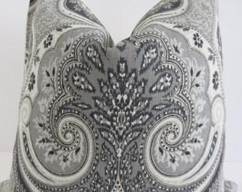 Black Ivory Pillow Cover, Cream Latika Pillow Cover, Pillow Covers, Latika Pillow Covers, Accent Pillows, Kravet Pillow