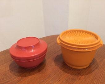 Vintage Tupperware Containers Sevalier Brick