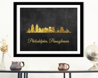 Philadelphia Pennsylvania Art Print - PA State Art, Pennsylvania cityscape art, Pennyslvania skyline art, PA state poster, PA state decor