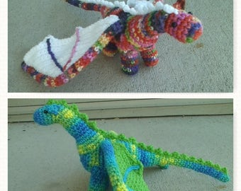 Plush Crochet Dragon